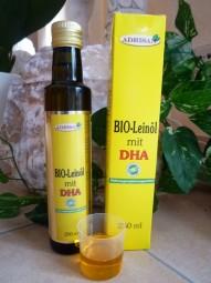 BIO-Leinöl mit DHA, 250 ml natives Speiseöl aus 1. Kaltpressung