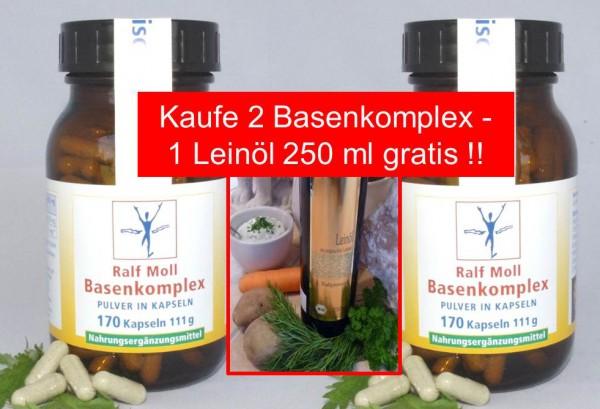 "Basisch-Vital-Aktion ""2 Basenkomplex - 1 Leinöl 250 ml gratis"""