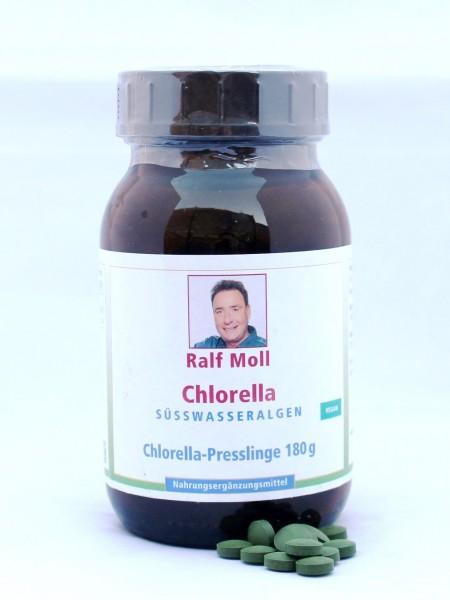 Chlorella-Algen vulgaris, 180g, 720 Presslinge
