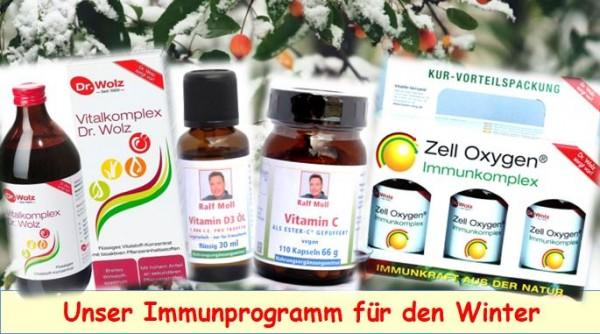 Aktion: Immunprogramm Winter mit Vitamin C+D, Immun- und Vitalkomplex von Dr. Wolz