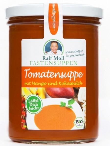 Fastensuppe Bio-Tomatensuppe mit Mango und Kokosmilch, 380 ml im Glas, DE-ÖKO-006