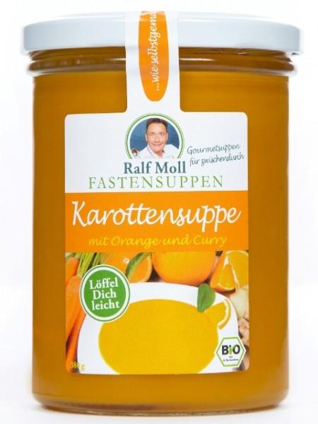 Fastensuppe Bio-Karottensuppe mit Orange und Curry, 380 ml im Glas, DE-ÖKO-006