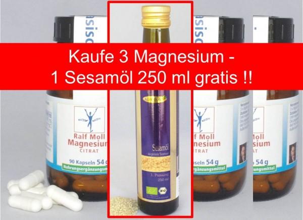 "Aktion ""Schlankmacher"" 3 x Magnesiumcitrat - 1 x Sesamöl 250 ml gratis !"