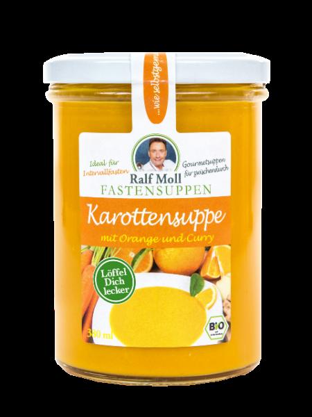 Fastensuppe Bio-Karottensuppe mit Orange und Curry, 380 ml im Glas