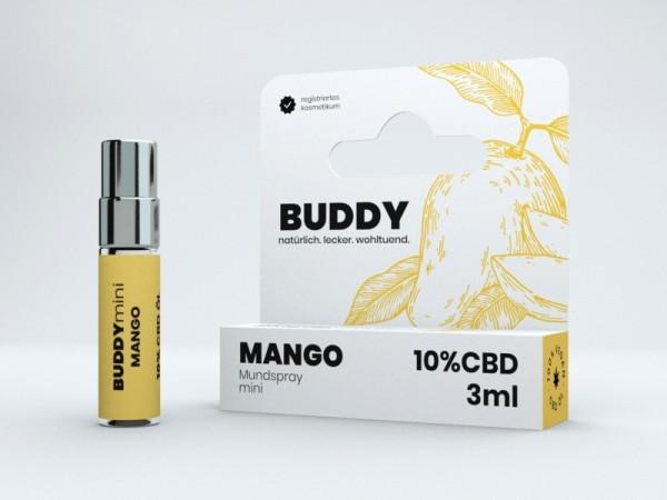 3ml CBD-Spray BUDDYmini mit Mango | 10% CBD
