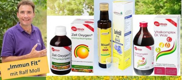 Immun-Fit-Aktion 10 % Rabatt: 3 x Immunkomplex, 1 x Vitalkomplex, 1 x Leinöl DHA & EPA
