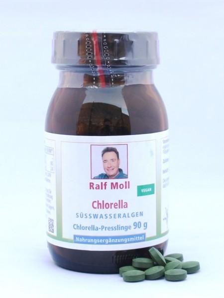 Chlorella-Algen vulgaris, 90g, 360 Presslinge