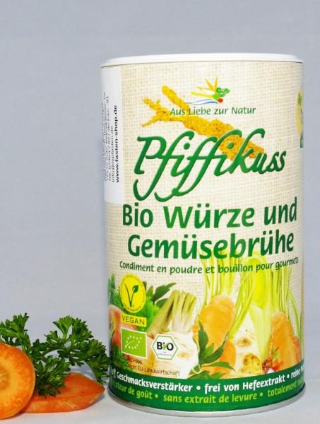 Pfiffikus / Bio-Gourmet-Streuwürze / Gemüsebrühe, 250 g Streuer