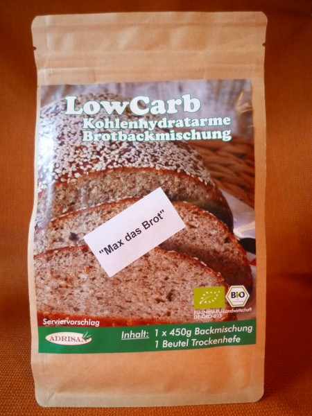 BIO Brotbackmischung, Low-Carb, 450g (600g Brot)