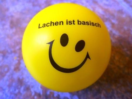 """Antistress-Ball """"Lachen-ist-basisch"""""""