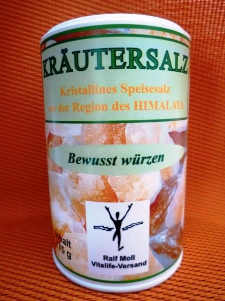 Kristallines Bio-Kräutersalz aus der Region des Himalaya / 175 g Streuer